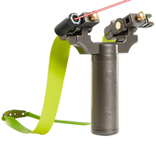 Rubber-Band Slingshot Laser Shooting Bow Catapult for New User Aiming Good-Quality Rotary