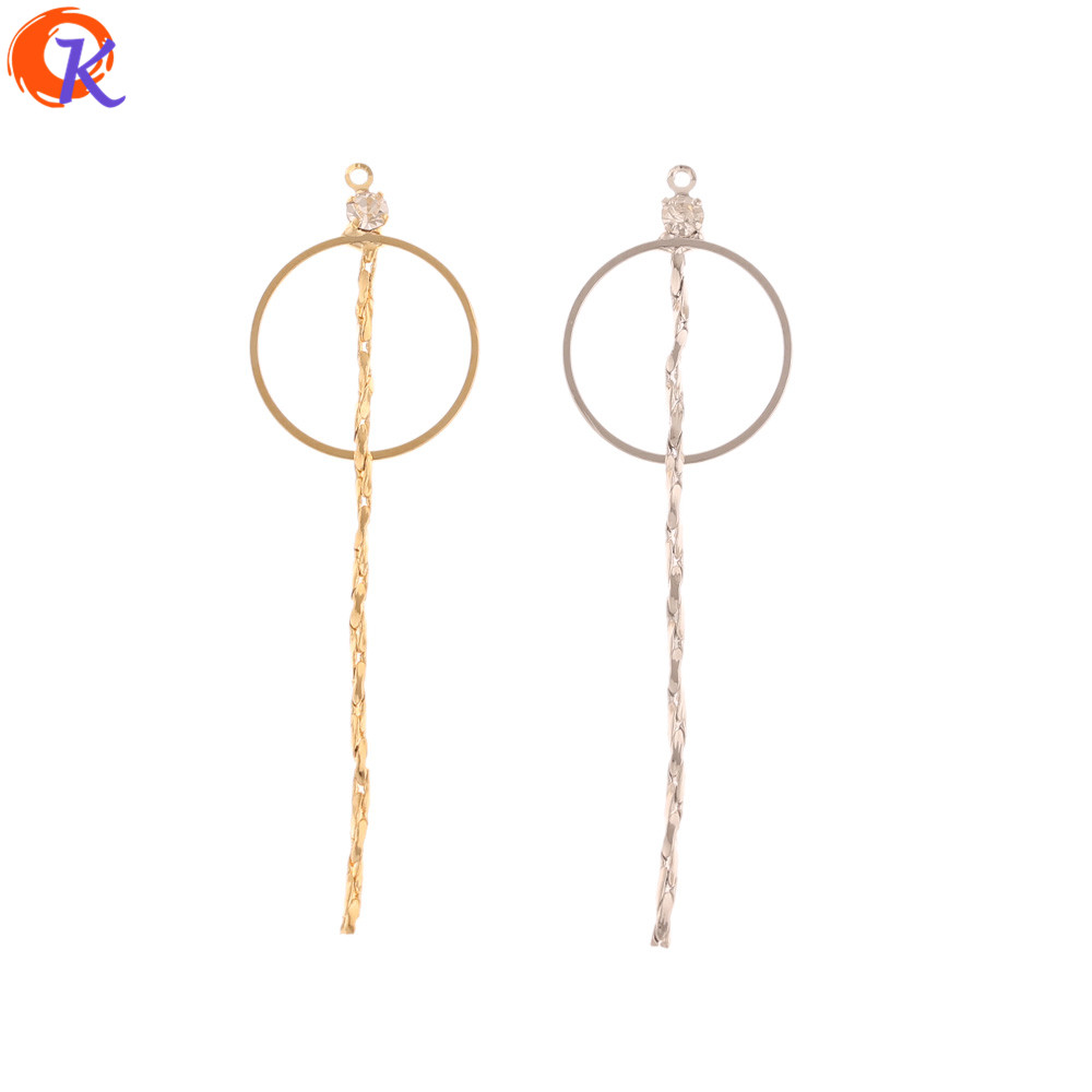 Cordial Design 30Pcs 20*56MM Jewelry Making/DIY Earring Connectors/CZ Loop Shape/Genuine Gold Plating/Hand Made/Earring Findings
