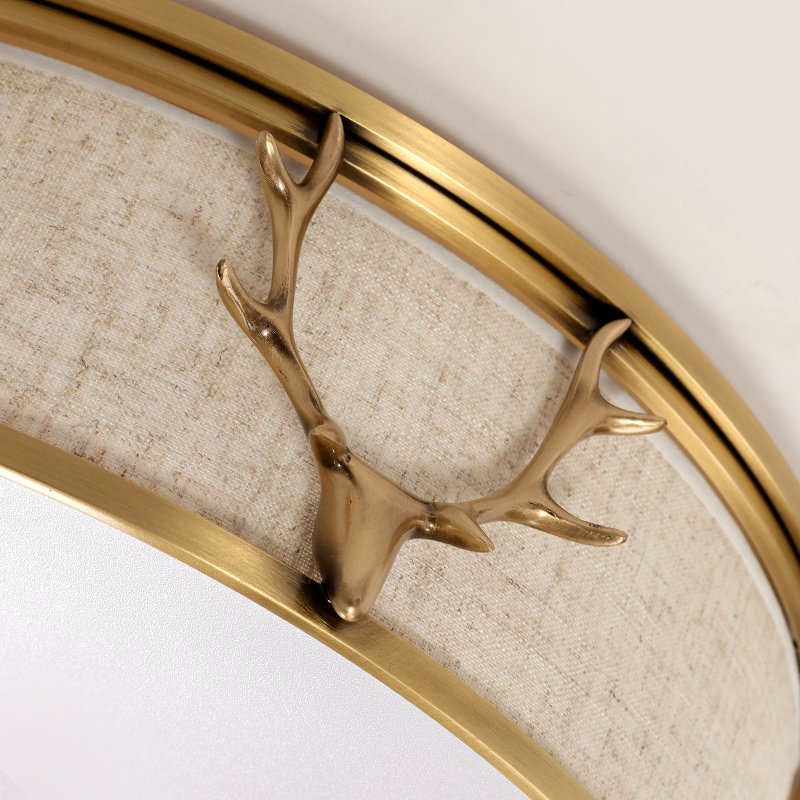 Image 5 - Luxury Christmas Antler Ceiling Lights For Bedroom LED Lamp Romantic Home Round Wedding Room Creative Festival Lighting Fixtures-in Ceiling Lights from Lights & Lighting