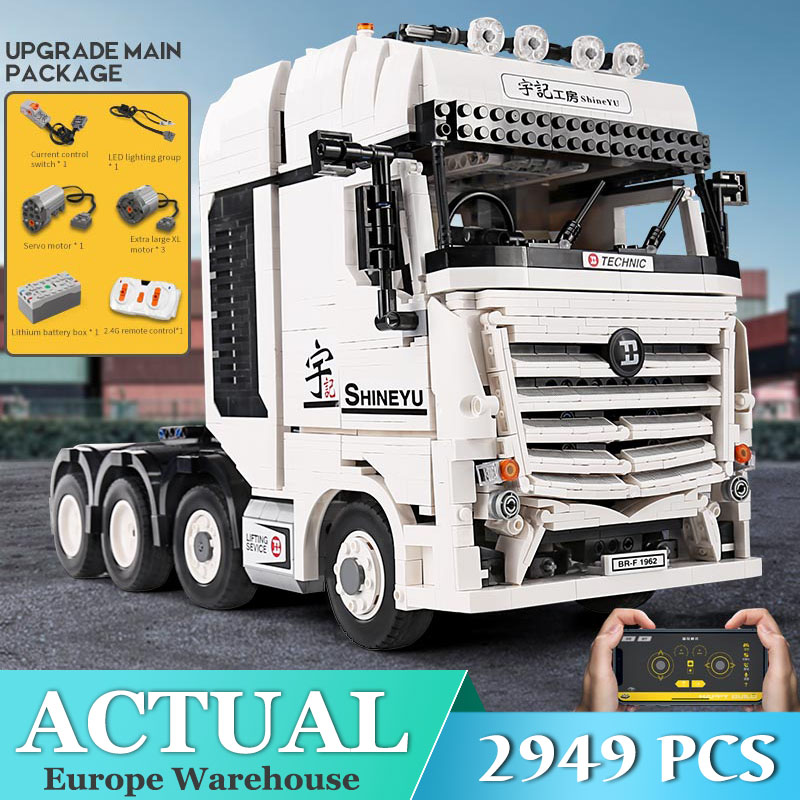 New 20005 <font><b>Technic</b></font> Truck Compatible with <font><b>42043</b></font> Arocs Truck Car Model Kits Building Blocks Bricks Kids Christmas Gifts image