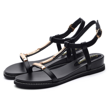 Shoes Woman New Fashion Women Sandals Split Leather Low Heels Women Shoes High Quality Summer Sandals For Woman Beach Sho 3-8682 hee grand women boots for summer 2017 new solid zipper flat shoes woman split leather shoes woman sandals soft for mom xwz3957