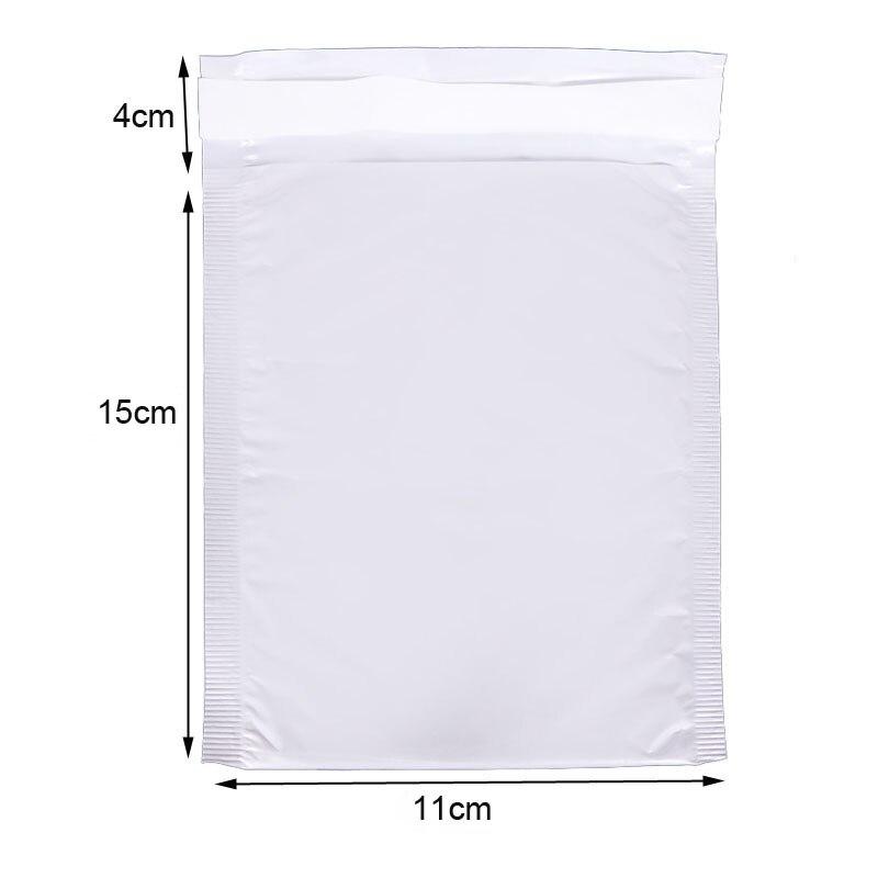 Bubble Envelope (11 * 15cm + 4cm) 10 Pieces White Envelope Bubble Bag Foam Collision Postage Delivery Bag Packaging Supplies