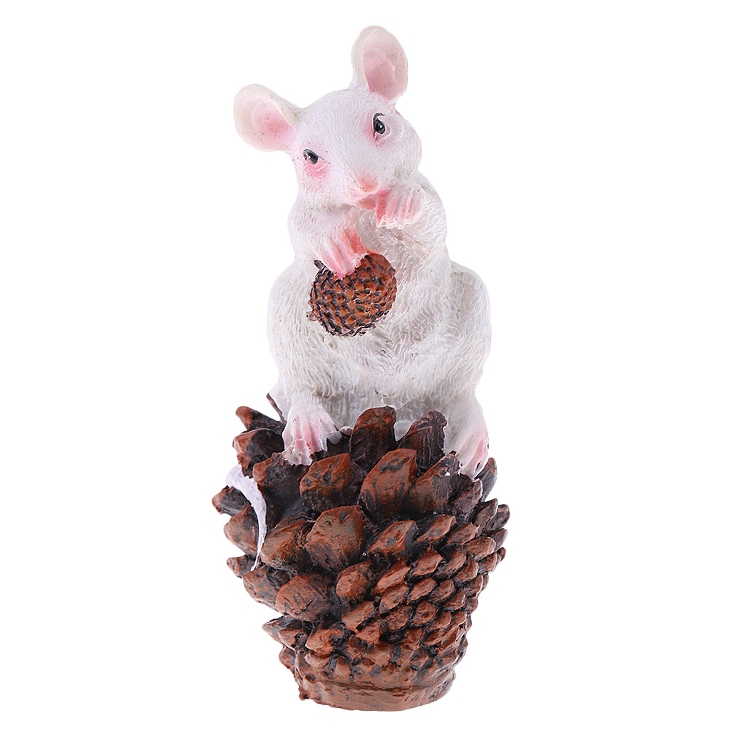 Finest Miniature Resin Mouse Sculpture for Yard Garden Lawn Home Office Desk Decoration Ornament