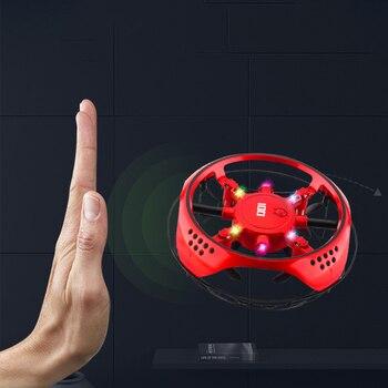 11cm mini UFO RC Drone mano de detección helicóptero de inducción de...