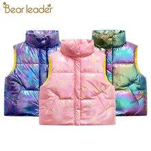 Vests Waistcoats-Jackets Warm Girls Boys Kids Winter Cotton Children Sleeveless Fashion