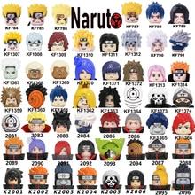 Building-Blocks Head-Toys Narutoes Anime Figures Itach-Model Tobi Jiraiya Japan Children