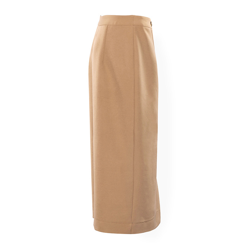Elegant High Waist Front Split Midi Skirt 10