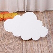 Tenture murale en bois avec crochet en forme de nuage, décoration murale pour chambre d'enfant