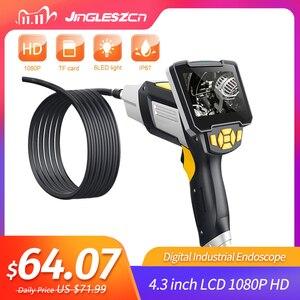 Image 1 - Endoscopio Digital Industrial, 4,3 pulgadas, LCD, boroscopio, Videoscope con Sensor CMOS, cámara de inspección semirrígida, endoscopio de mano