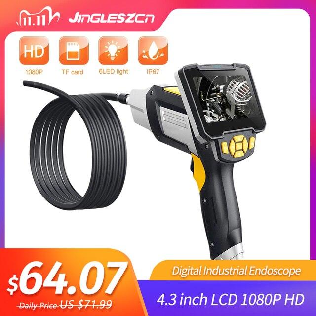 Endoscopio Digital Industrial, 4,3 pulgadas, LCD, boroscopio, Videoscope con Sensor CMOS, cámara de inspección semirrígida, endoscopio de mano