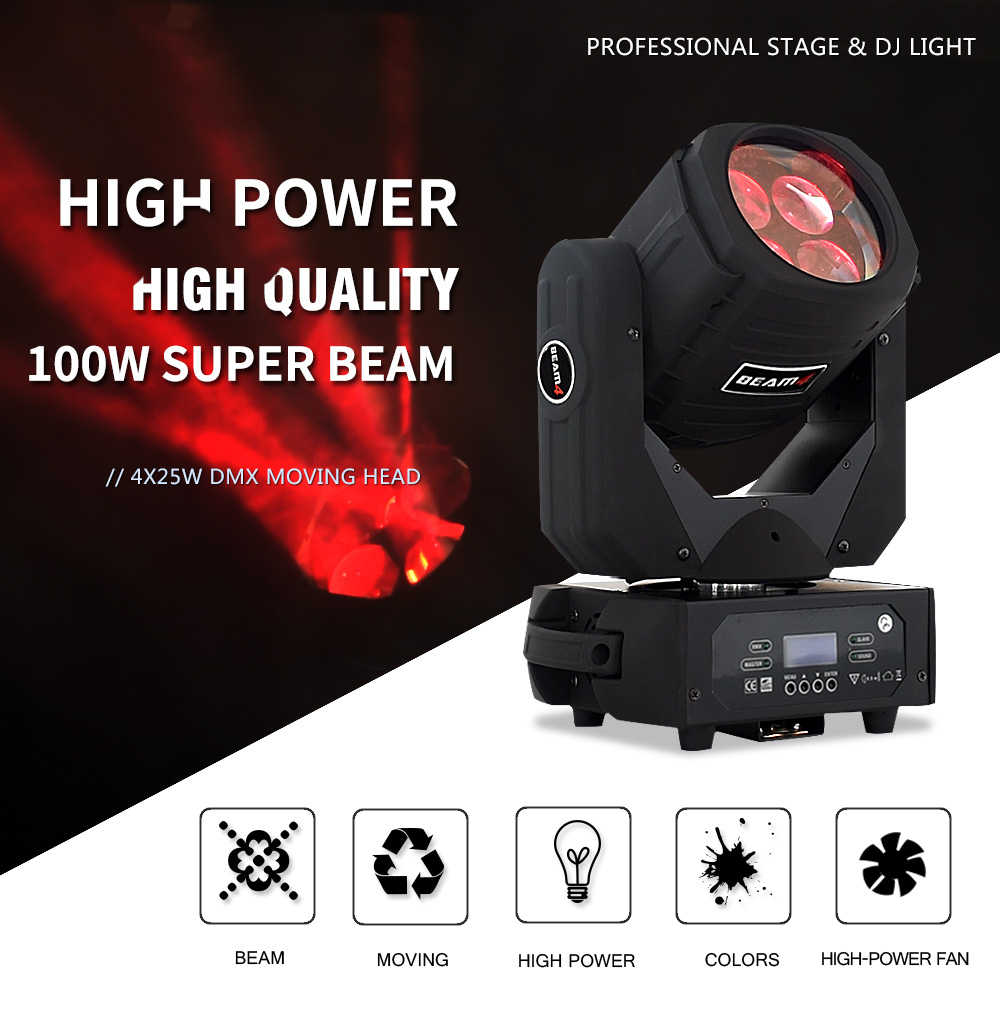 Rgbw Led Stage Light Moving Head/led Moving Head Beam/led Christmas Light Projector