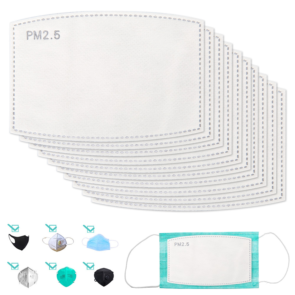 10/20/50/100PCS PM2.5 Mask Filter Pads For Disposable Mask 5 Layer Filter Mouth Face Skin Friendly Dustproof Pad