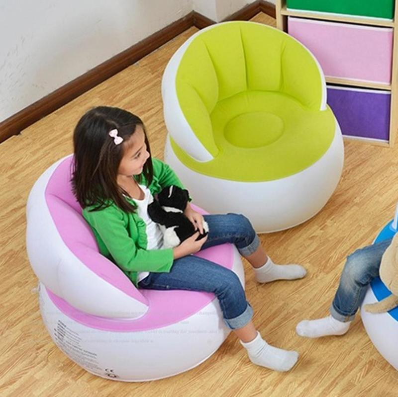 58*53cm Children Inflatable Bathroom Sofa Portable Multifunctional Kids Chair For Sitting Relax Inflatable Sofa Comfortable