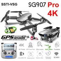 SSTI-VSG SG907 Pro GPS Drone con HD 4K de ajuste de la Cámara de ángulo ancho 5G WIFI FPV RC Quadcopter plegable Dron E520S