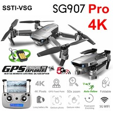 SSTI-VSG SG907 Pro Gps Drone Met 4K Hd Aanpassing Camera Groothoek 5G Wifi Fpv Rc Quadcopter Professionele opvouwbare Dron E520S(China)