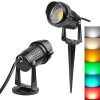 3W 5W 220V חיצוני LED נוף אור גינה דשא אור עמיד למים LED דשא מנורת COB תאורת Led אור גן נתיב זרקורים-במנורות למדשאה מתוך פנסים ותאורה באתר