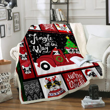 Рождественская елка дом пледы одеяло из микрофибры Теплый диван