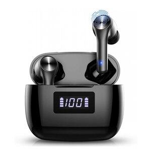Bluetooth 5,0 беспроводные наушники TWS наушники в ухо глубокие басы Наушники Встроенный микрофон гарнитура с умным сенсорным управлением 3D стере...