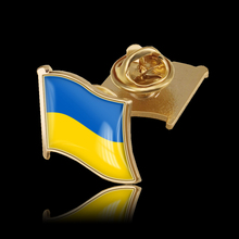 Ukraine Country Flag Waving 3D Lapel Hat Cap Tie Pin Badge Republic Brooch Patriotism Pride