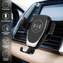 10W Car Charger Holder Qi Wireless Charger For iPhone XS Max X XR 8 Fast Charging Air Vent Phone Holder For Samsung Note 9 S9 S8 aiyima qi wireless charger for iphone xs max x xr 8 automatic induction car phone holder fast charging for samsung note 9 s9 s8