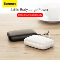 Baseus Mini Power Bank 10000mAh Small External Battery Charger Dual USB Portable Powerbank 10000mAh Fire for Phone