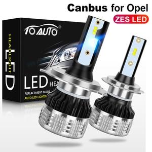 Image 1 - 2pcs Canbus ZES LED H1 H3 H4 H7 H8 H11 HB3 9005 HB4 9006 H27 880 881 LED פנס נורות 9012 אוטומטי מנורת שגיאת משלוח 12V 6000K