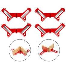 цена 4pcs New Multifunction 90 Degree Right Angle Clip Picture Frame Corner Clamp Corner Holder Woodworking Tool Clamps онлайн в 2017 году