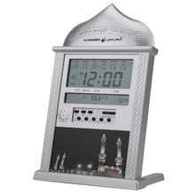 1 Uds., reloj de mesa musulmán rezando islámico Azan, relojes de alarma Azan con bolígrafo 1500, ciudades, reloj de oración de atán Adhan Salah