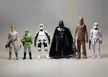 Лот из 6 SW Luke Leia Vader первый заказ Trooper 3,75