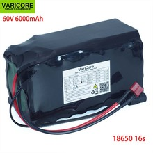 VariCore 16S2P 60V 6Ah 18650 리튬 이온 배터리 팩 67.2V 6000mAh Ebike 전기 자전거 스쿠터 20A 방전 BMS 1000 와트