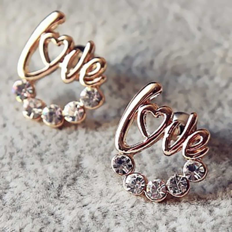 2019 new style large-mode cute shiny LOVE earrings for girl costume jewelery wholesale for women