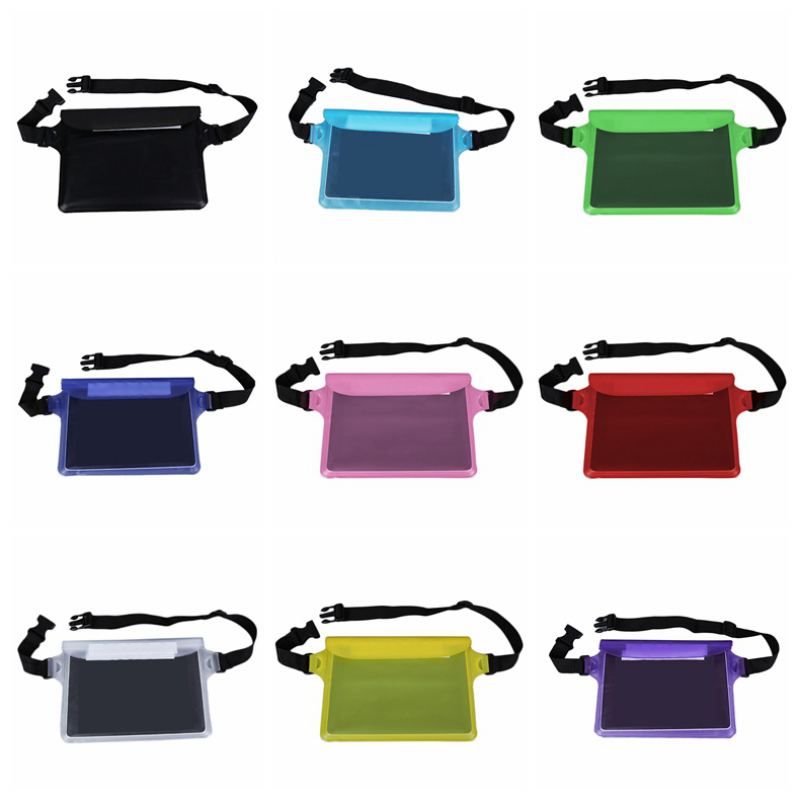 Swimming Drifting Diving Waist Fanny Pack Pouch Underwater Sealing Mobile Phone Bag Waterproof Sports Waist Bag Swimwear Pocket