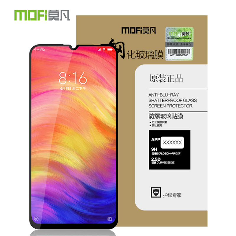 MOFI For Redmi Note 8 7 K20 Pro Tempered Glass Full Screen Coverage Tempered Glass Screen Protector For Redmi 7 7A Note 4X 5 Pro