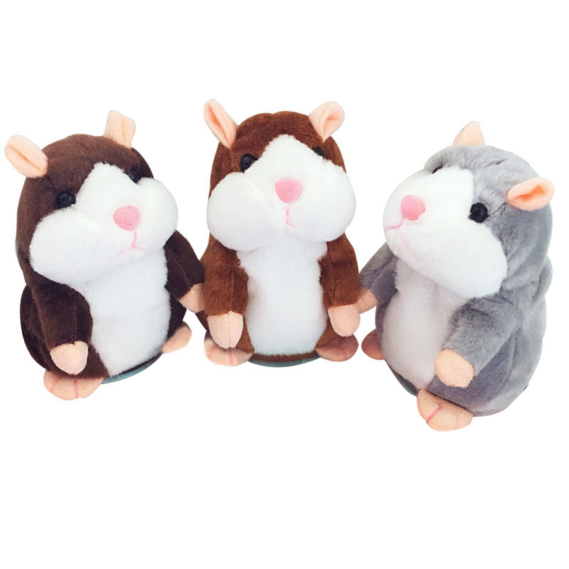 15cm Lovely Talking Hamster Pet Plush Toy Speak Talk Sound Record Repeat Stuffed Interactive Toys Educational Toys For Children
