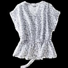 Real Silk and Cotton Prairie Chic Print V-Neck Bluzki Letnie Damskie Blusas De Verano Mujer De Moda 2020 Elegant