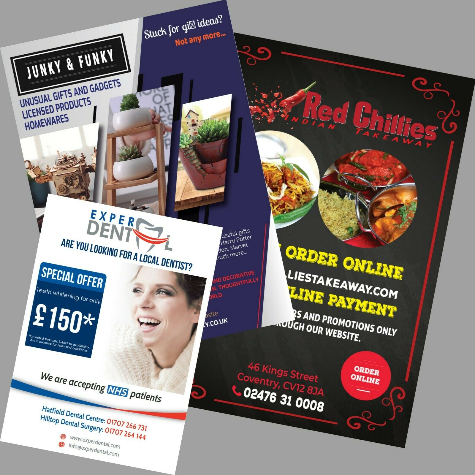500Pcs A3/A4/A5 Double Side Custom Flyer Print Design Leaflet Poster Full Colour Printing Advertising