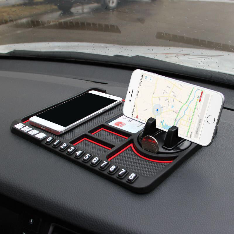 Car Anti-Slip Mat Pad Auto Silicone Phone Holder Non Slip Sticky Anti Slide Dashboard GPS Mount Bracket Parking Number Card