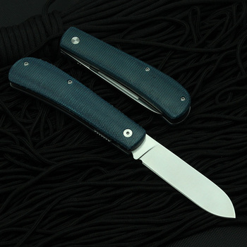 New  TUNAFIRE Outdoor Knife 440C multifunctional tool linen fiber handle portable outdoor camping Fishing Folding Pocket knive 4