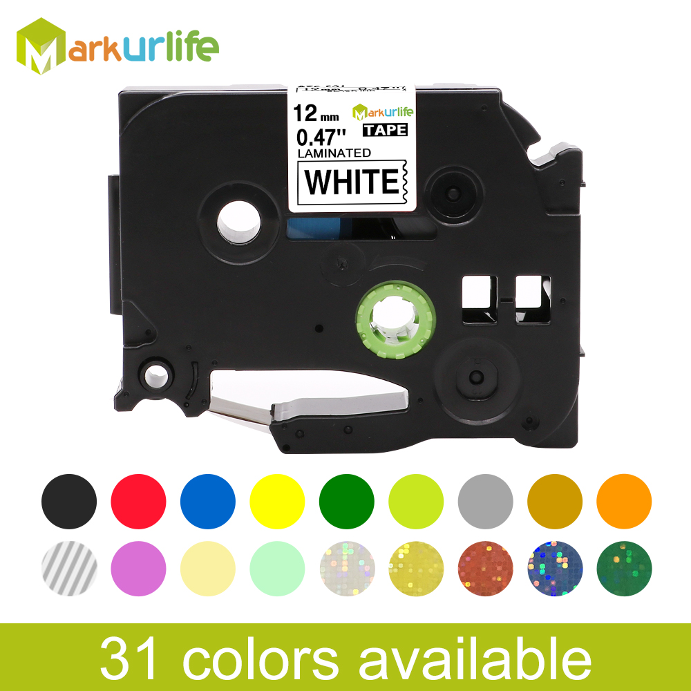 31 Colors TZe-231 Label Tape Compatible For Brother P Touch Printer Tze Tape Tze-231 Tze 231 Tz231 Tze131 Tze241 Tze221 Tze141