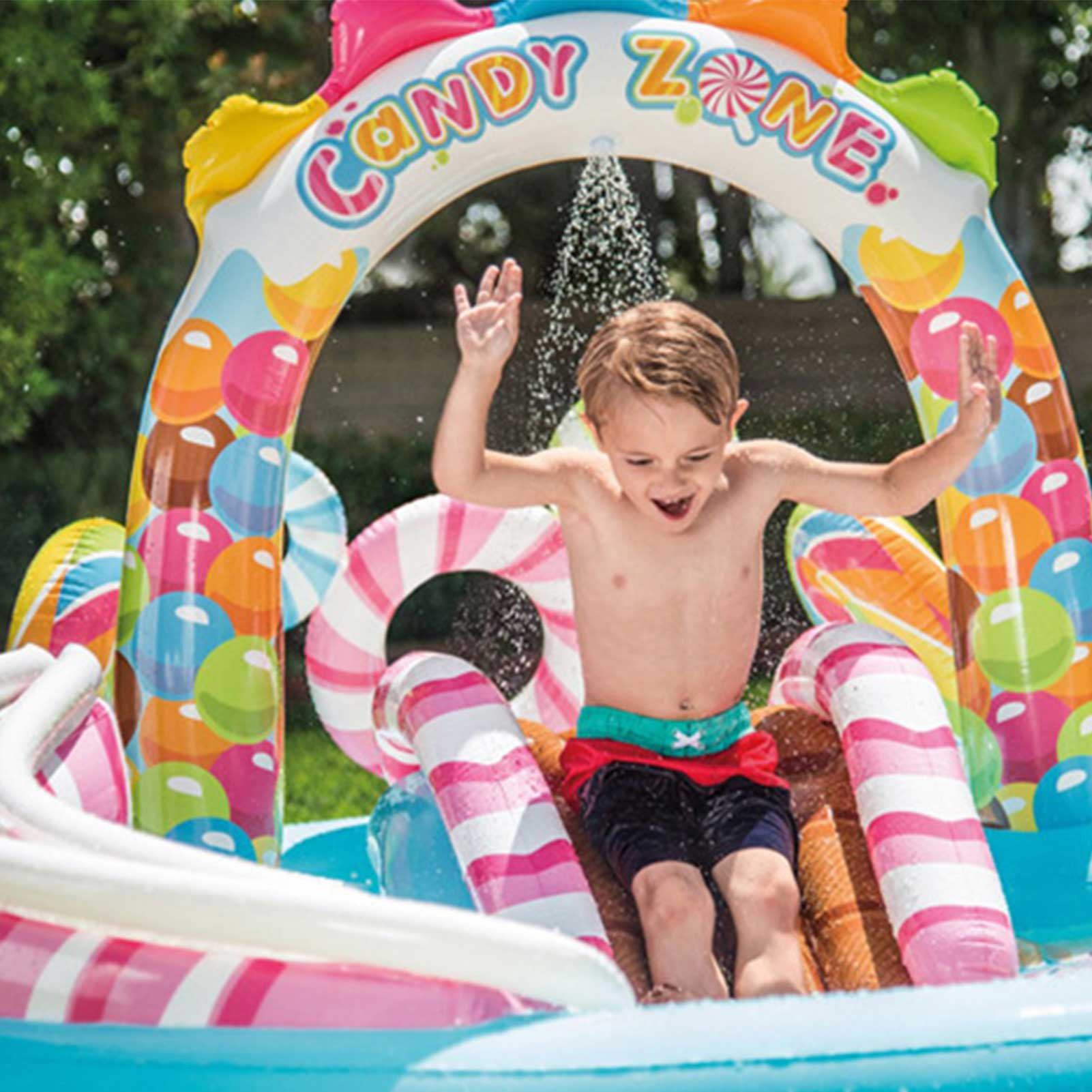 Outdoor Garden Fun Toy Pool Surfboard Water Games Toy Inflatable Baby Swimming Paddling Pool Slide Toys
