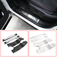 Stainless Steel Car Door Sill Strip Scuff Plates Protector Cover Trim For Land Rover Discovery Sport 2020 5/7 Seat Car Accessory
