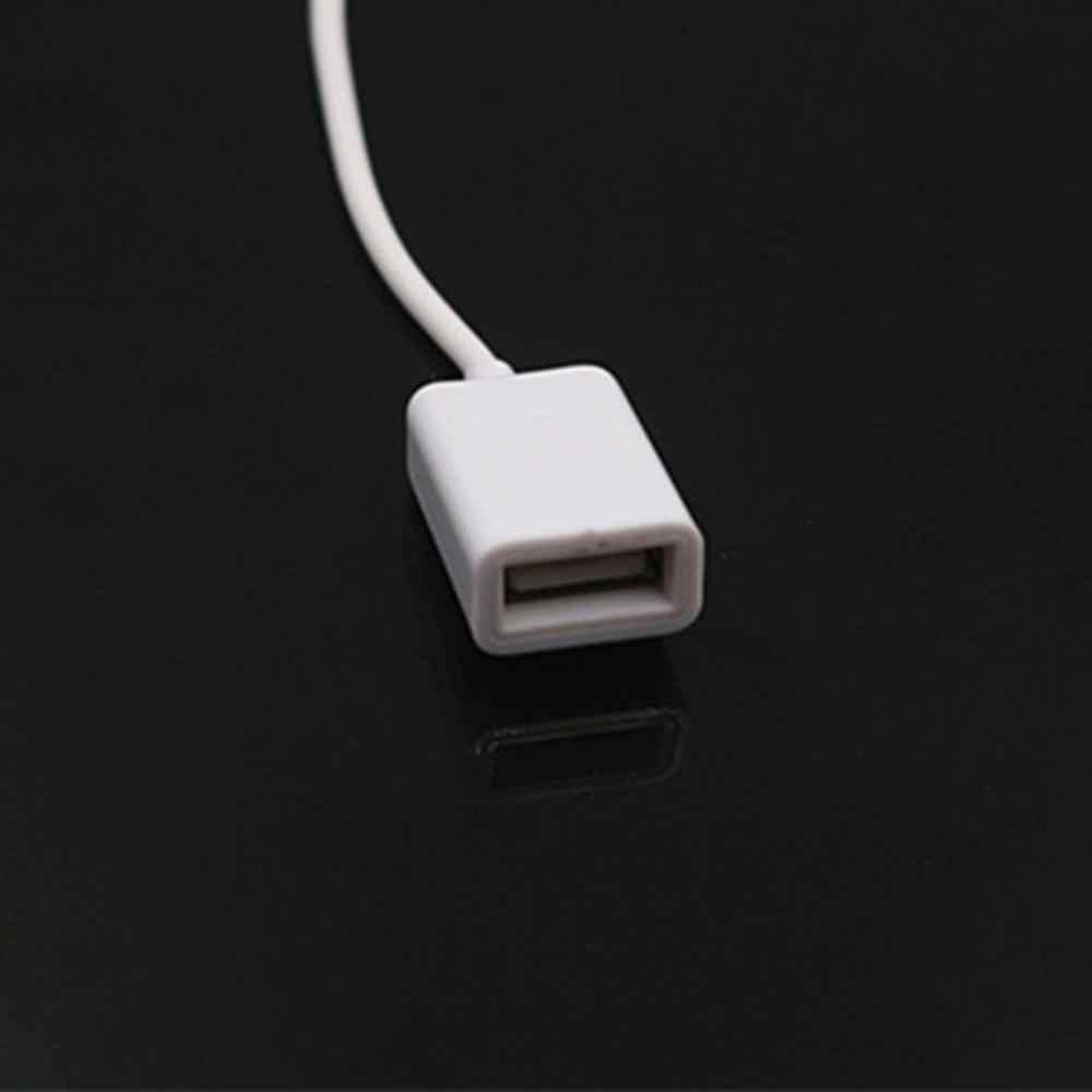 Przenośny AUX na USB 3.5mm męski Aux gniazdo audio wtyk na USB 2.0 konwerter kabla żeńskiego przewód konwerter kabel tylko samochodowy Port AUX
