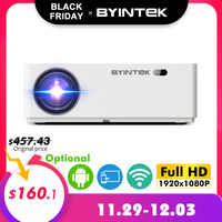 BYINTEK MOON K20 1080P Smart Android Wifi 300inch 1920x1080 Full HD LED Video Projector with HD USB For Home Theater Cinema