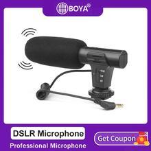 Микрофон SHOOT для цифровой зеркальной фотокамеры, стерео микрофон для Xiaomi 8, iphone X, Samsung, компьютера