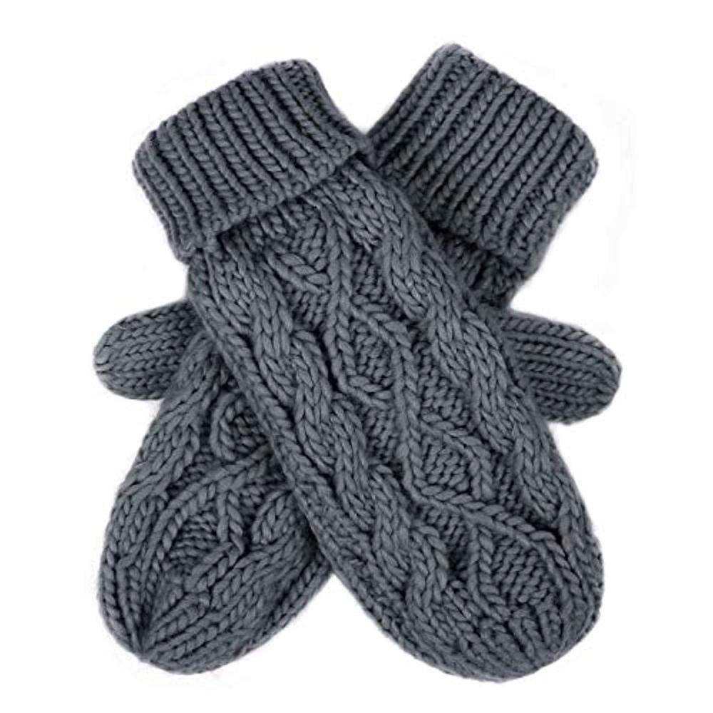 Women Winter Crochet Camp Protective Gloves Twist Cable Knit Hand Warmer Mittens Winter Gloves