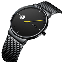 BIDEN Men Watches Simplicity Modern Quartz Wrist Watch Black Stainless Steel Mesh Band Waterproof New Collection Erkek Kol Saati все цены