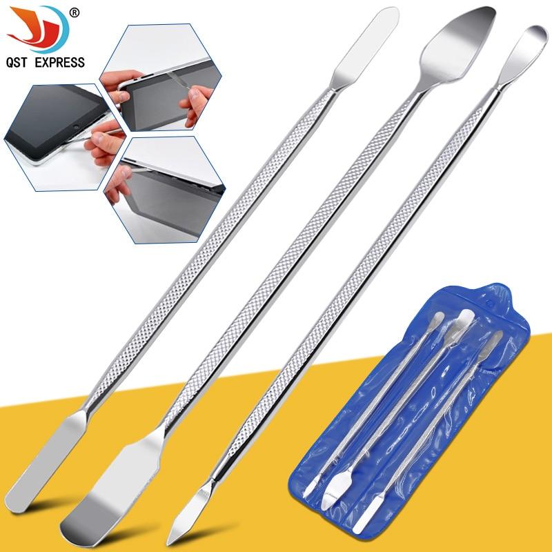 3pcs Universal Mobile Phone Repair Opening Tool Metal Disassemble Crowbar Metal Steel Pry Phone Hand Tool Set(China)