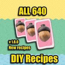 Animal Crossing Nuevo Horizonte 640 DIY receta
