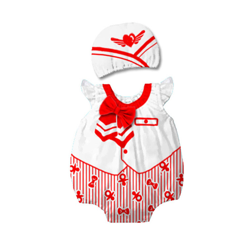 Baby Boys Air Hostess Stewardess Costume Rompers Jumpsuit For Infant Toddler Halloween Christmas Birthday Party Fancy Dress