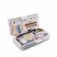 Электронный компонент базовый стартовый набор с 830 соединительными точками макетная плата кабель резистор конденсатор светодиодный потенциометр коробка упаковка